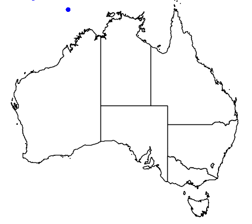 distribution map showing range of Amaurornis phoenicurus in Australia