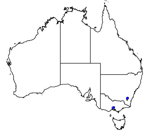 distribution map showing range of Porzana fusca in Australia
