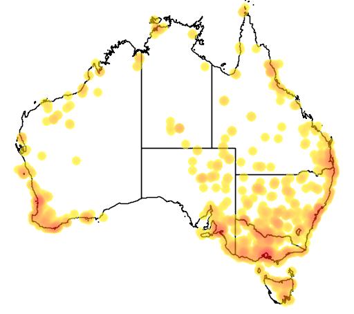 distribution map showing range of Porzana tabuensis in Australia