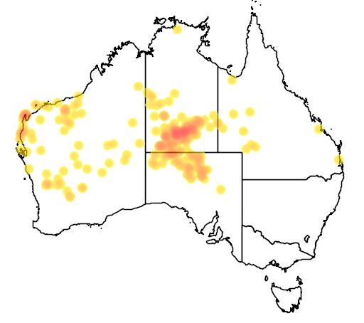 distribution map showing range of Varanus giganteus in Australia