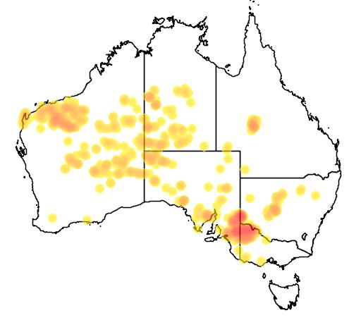 distribution map showing range of Amytornis striatus in Australia