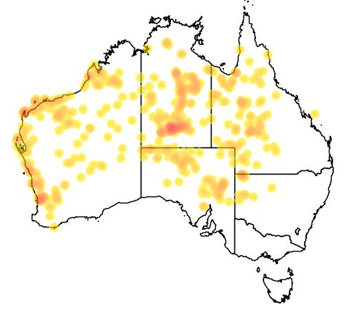 distribution map showing range of Antaresia stimsoni in Australia