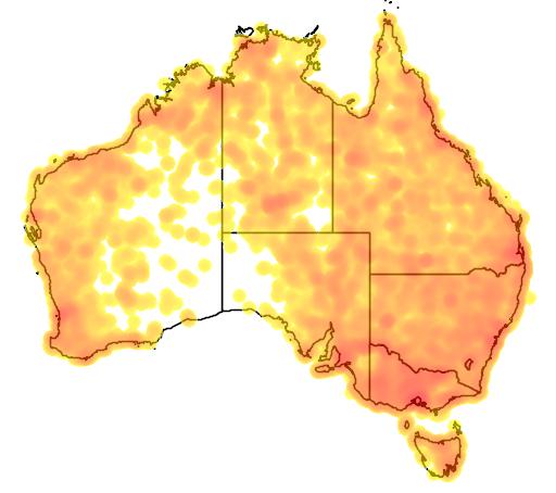 distribution map showing range of Elseyornis melanops in Australia