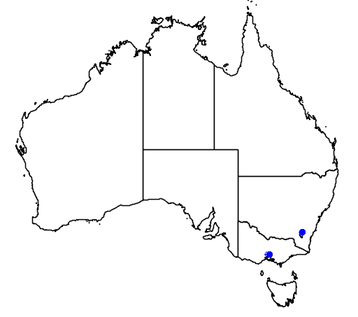 distribution map showing range of Porzana fusca in Australia